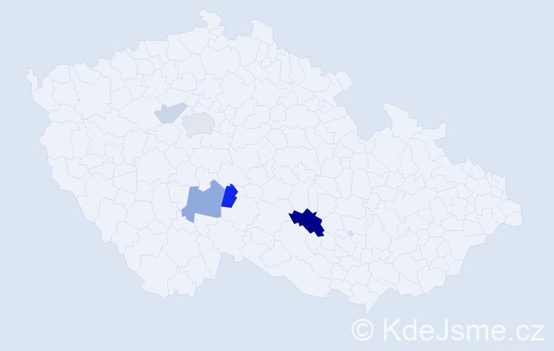 Příjmení: 'Hibšová', počet výskytů 12 v celé ČR