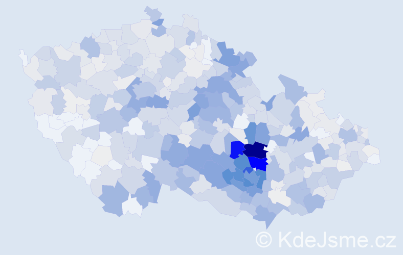 Příjmení: 'Dvořáček', počet výskytů 3286 v celé ČR