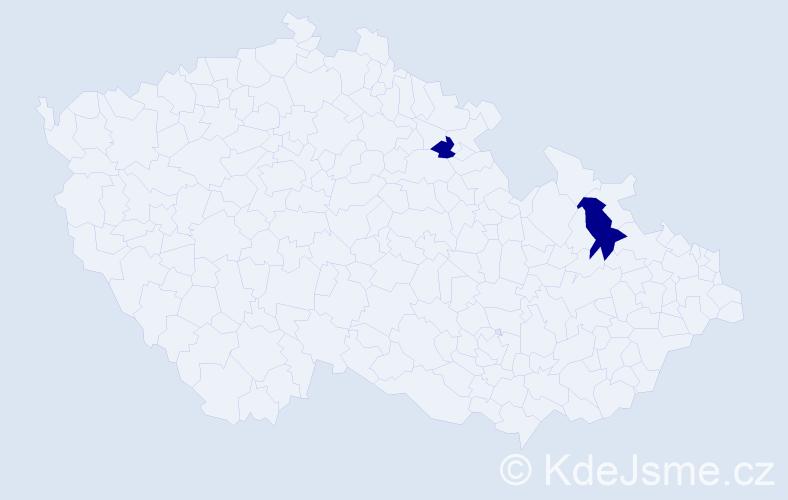 Příjmení: 'Černenko', počet výskytů 3 v celé ČR