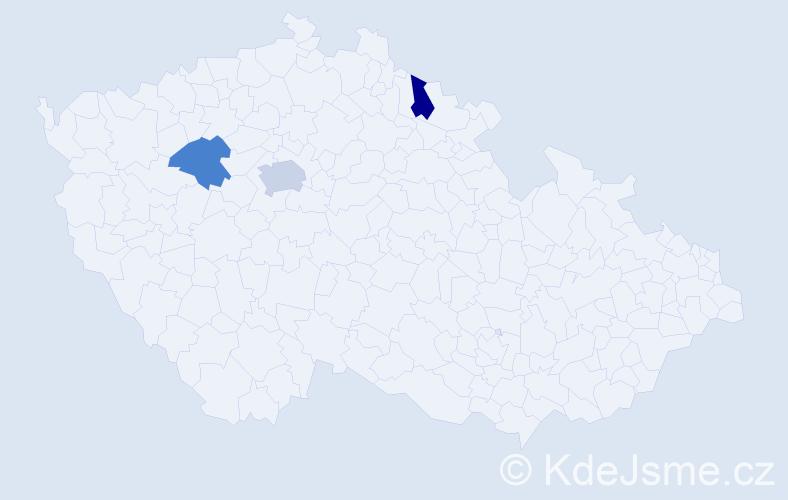 Příjmení: 'Hychta', počet výskytů 4 v celé ČR