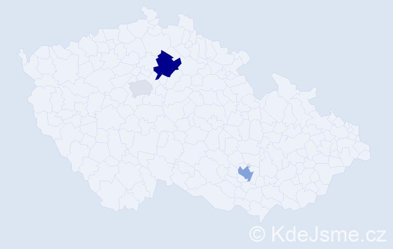 Příjmení: 'Boutros', počet výskytů 6 v celé ČR