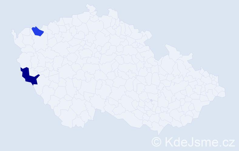 Příjmení: 'Basakinová', počet výskytů 3 v celé ČR