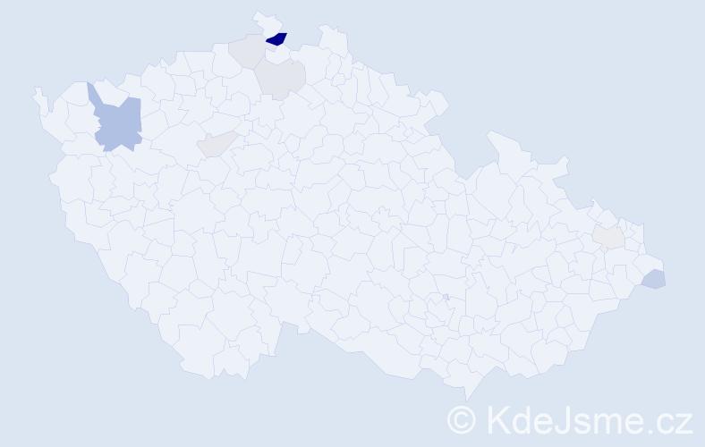 Příjmení: 'Jelenčiaková', počet výskytů 20 v celé ČR