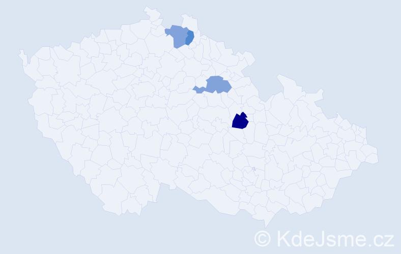Příjmení: 'Isaidesová', počet výskytů 4 v celé ČR