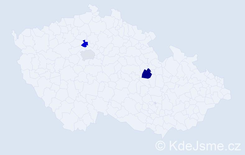 Příjmení: 'Hafsi', počet výskytů 3 v celé ČR