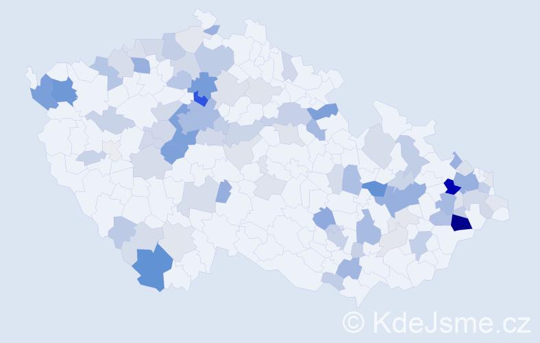Příjmení: 'Fabianová', počet výskytů 322 v celé ČR