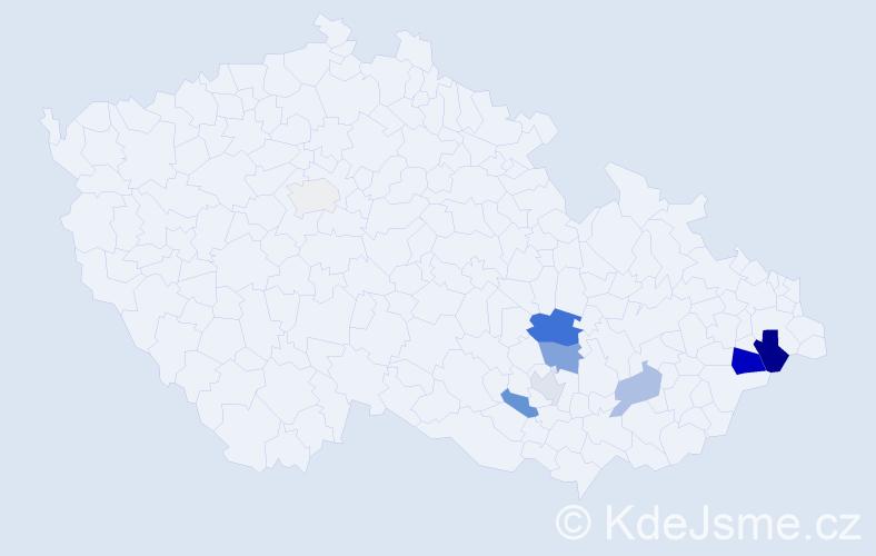 Příjmení: 'Hanskut', počet výskytů 28 v celé ČR