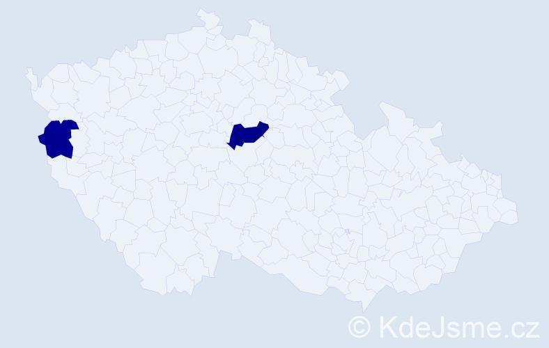 Příjmení: 'Godoy', počet výskytů 3 v celé ČR