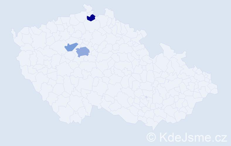 Příjmení: 'Kellersteinová', počet výskytů 7 v celé ČR