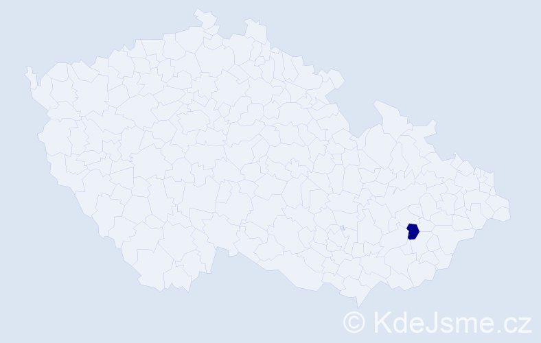 """Příjmení: '""""Janečková Faciníková""""', počet výskytů 1 v celé ČR"""