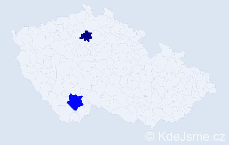 Příjmení: 'Galloway', počet výskytů 3 v celé ČR