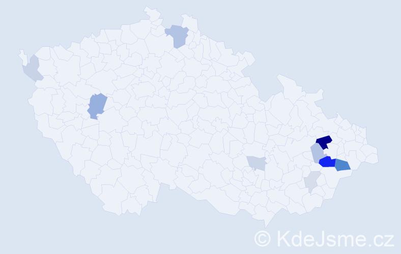 Příjmení: 'Chlevišťanová', počet výskytů 24 v celé ČR