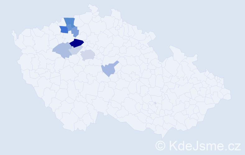 Příjmení: 'Krunt', počet výskytů 26 v celé ČR