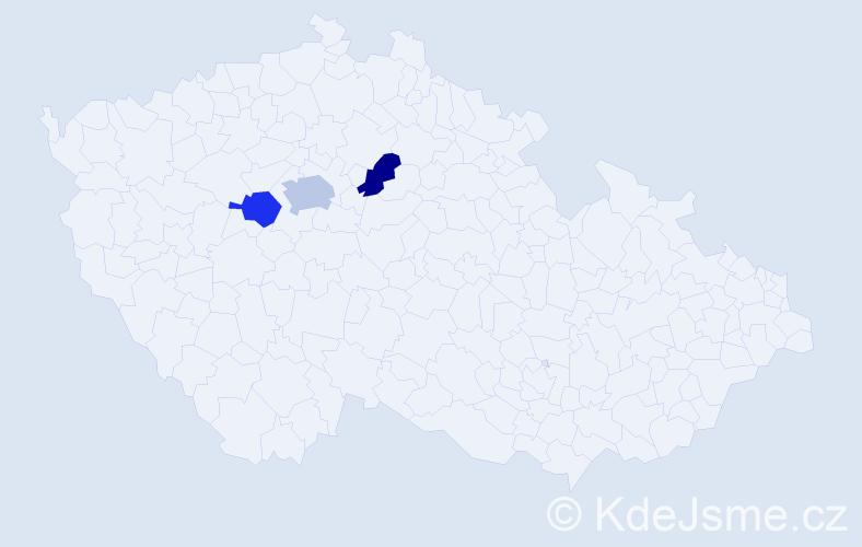 Příjmení: 'Bies', počet výskytů 4 v celé ČR
