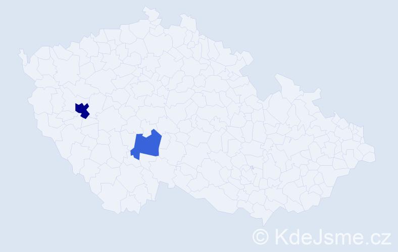 Příjmení: 'Hablowetzová', počet výskytů 4 v celé ČR