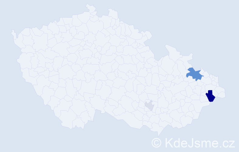 Příjmení: 'Běrská', počet výskytů 6 v celé ČR
