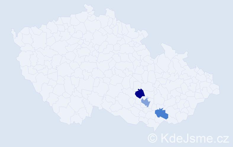 Příjmení: 'Duřpekt', počet výskytů 4 v celé ČR