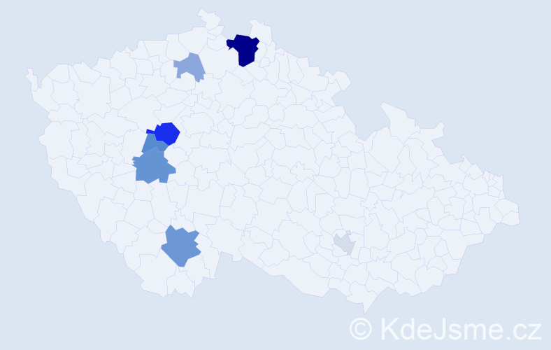 Příjmení: 'Girethová', počet výskytů 19 v celé ČR