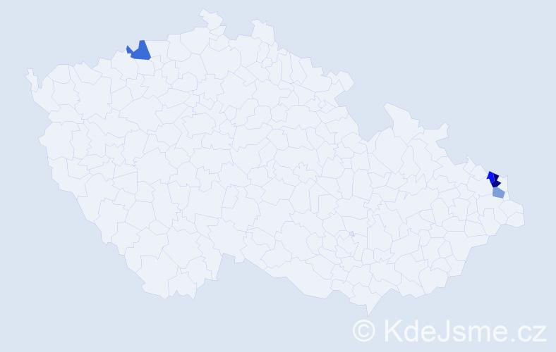 Příjmení: 'Isaiášová', počet výskytů 10 v celé ČR