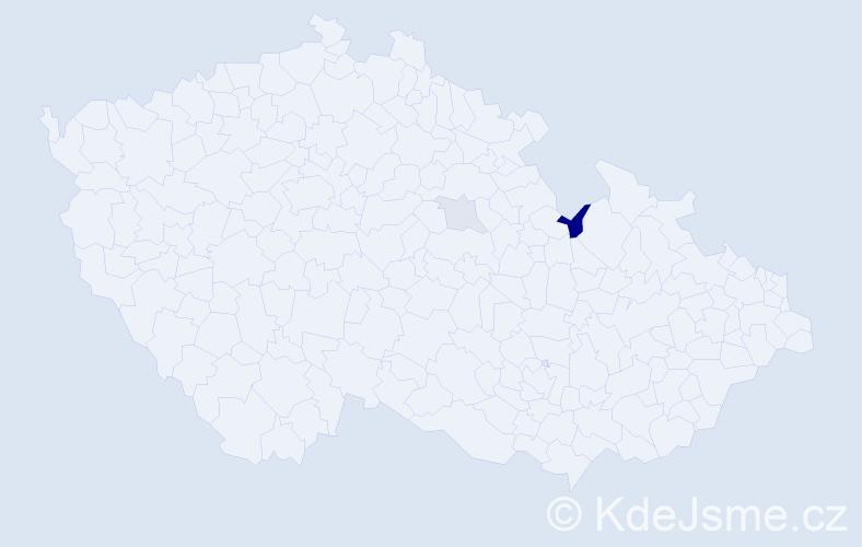 Příjmení: 'Habivská', počet výskytů 4 v celé ČR