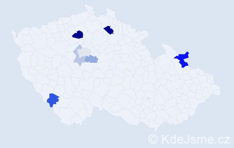 Příjmení: 'Babušová', počet výskytů 14 v celé ČR