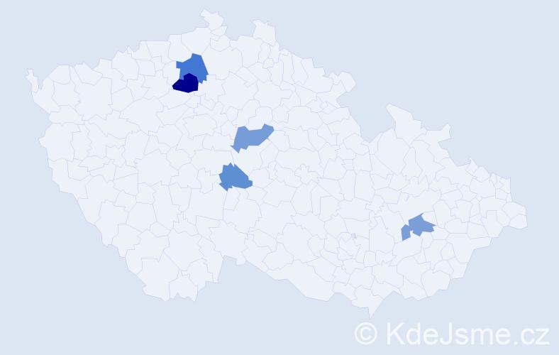 Příjmení: 'Humburská', počet výskytů 11 v celé ČR