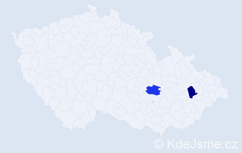 Příjmení: 'Ďurčanová', počet výskytů 2 v celé ČR