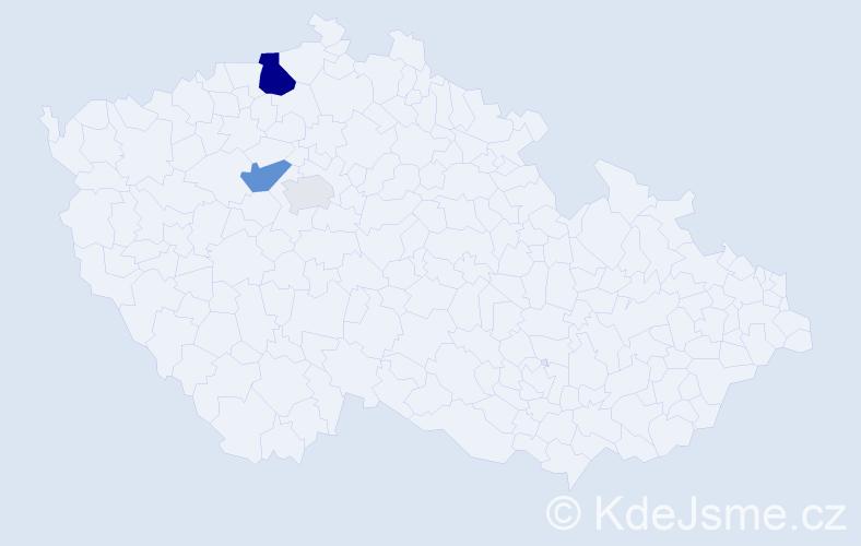 Příjmení: 'Lábler', počet výskytů 8 v celé ČR