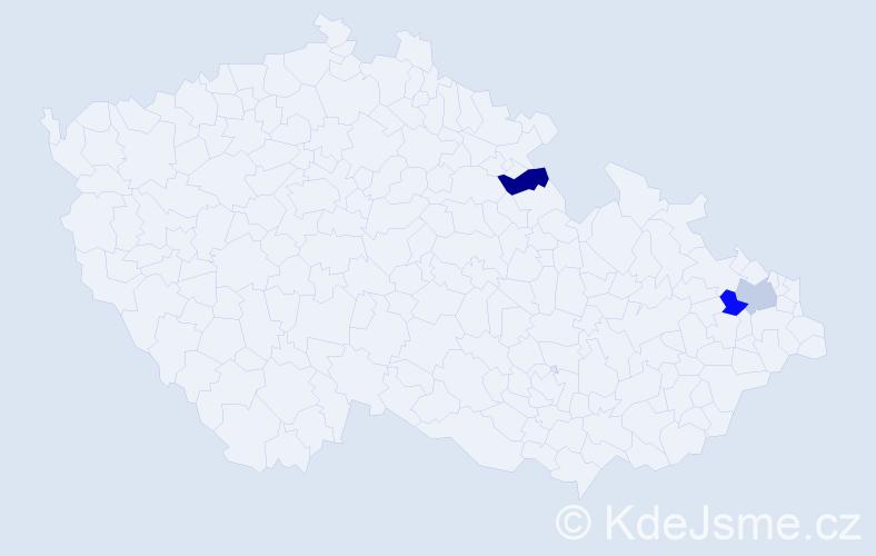 Příjmení: 'Bauko', počet výskytů 6 v celé ČR