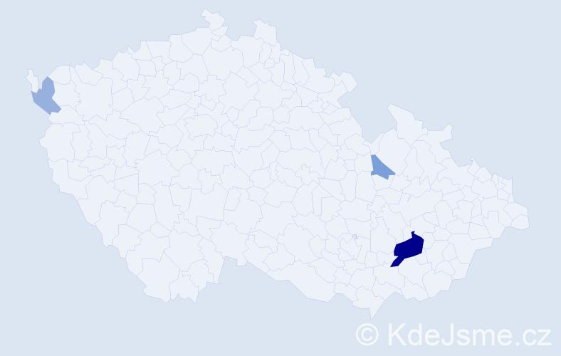 Příjmení: 'Dillenz', počet výskytů 9 v celé ČR