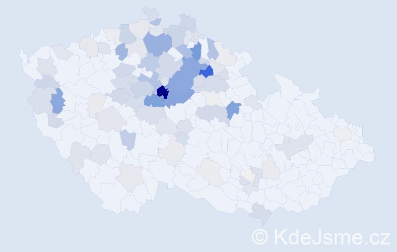 Příjmení: 'Houžvičková', počet výskytů 346 v celé ČR