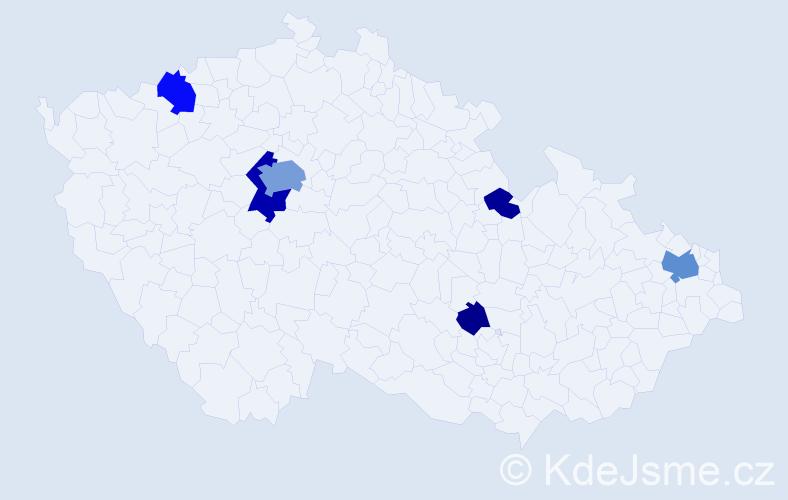 Příjmení: 'Ferreira', počet výskytů 17 v celé ČR