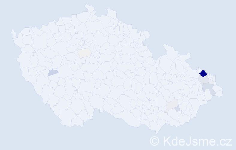 Příjmení: 'Guřan', počet výskytů 60 v celé ČR