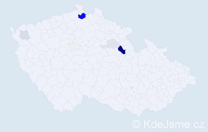 Příjmení: 'Kamšová', počet výskytů 14 v celé ČR