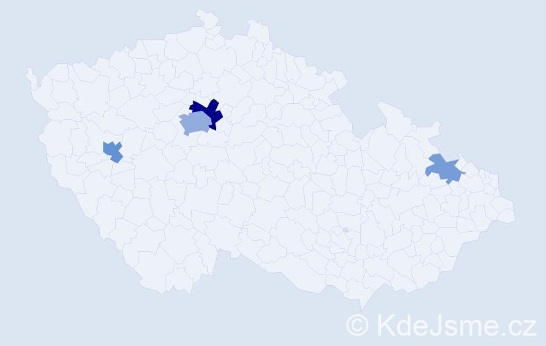 Příjmení: 'Drake', počet výskytů 11 v celé ČR