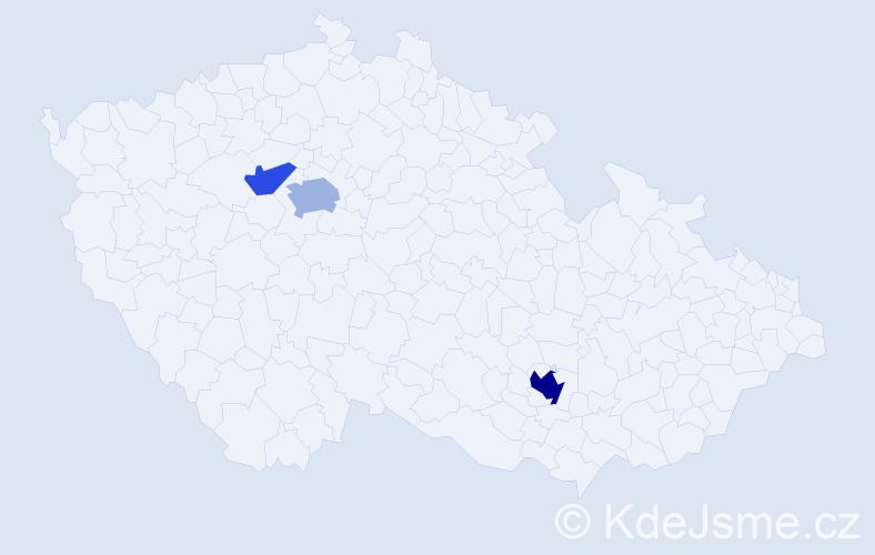 Příjmení: 'Issaoui', počet výskytů 7 v celé ČR