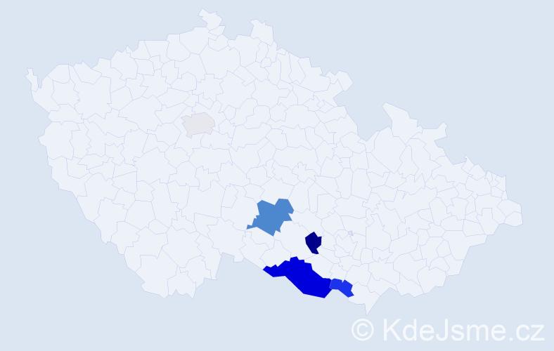 Příjmení: 'Chrenovský', počet výskytů 11 v celé ČR