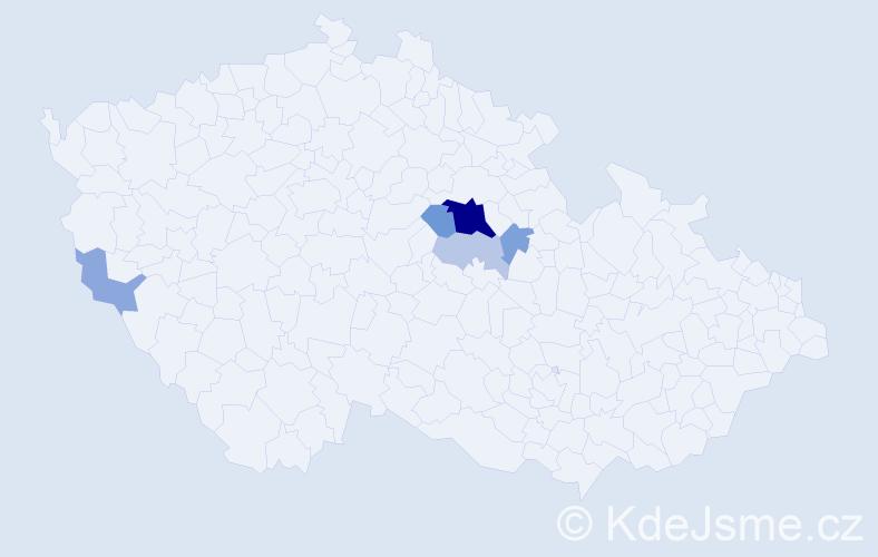 Příjmení: 'Lamberty', počet výskytů 15 v celé ČR
