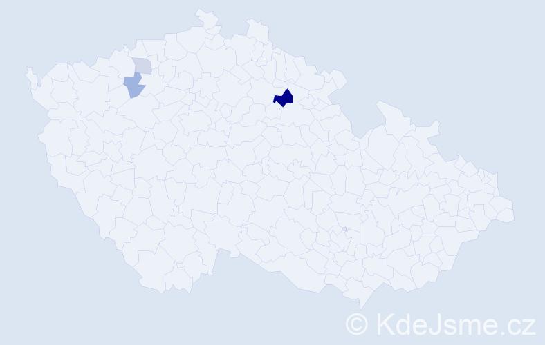 Příjmení: 'Melaga', počet výskytů 6 v celé ČR