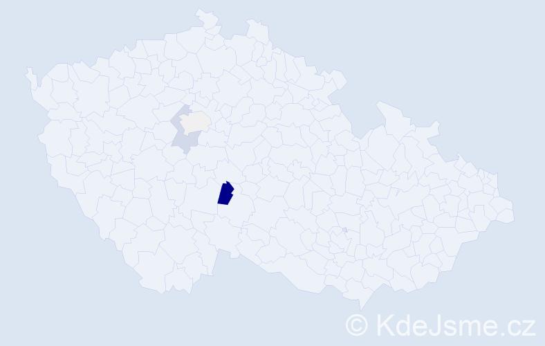 Příjmení: 'Kaun', počet výskytů 9 v celé ČR