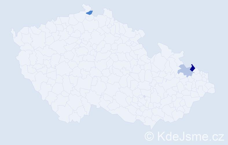 Příjmení: 'Fidriková', počet výskytů 4 v celé ČR