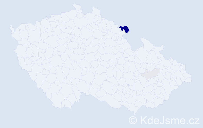 Příjmení: 'Hejniš', počet výskytů 8 v celé ČR