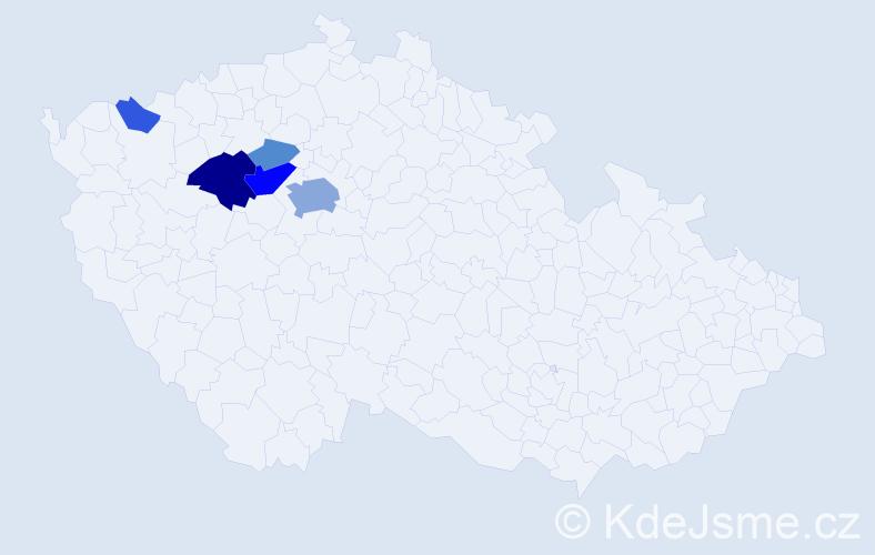 Příjmení: 'Eisensteinová', počet výskytů 17 v celé ČR