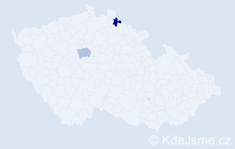 Příjmení: 'Domsová', počet výskytů 5 v celé ČR
