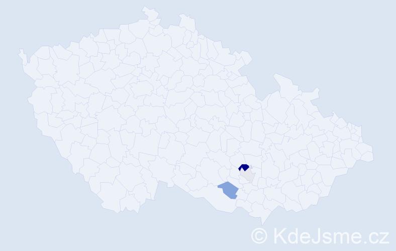 Příjmení: 'Barborák', počet výskytů 6 v celé ČR