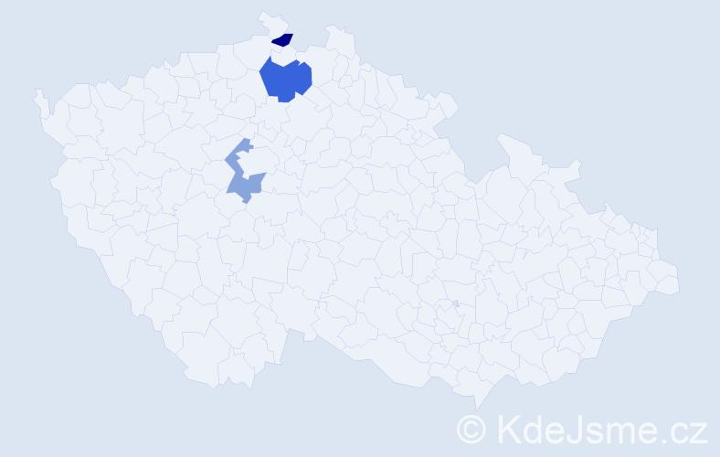Příjmení: 'Baibl', počet výskytů 4 v celé ČR