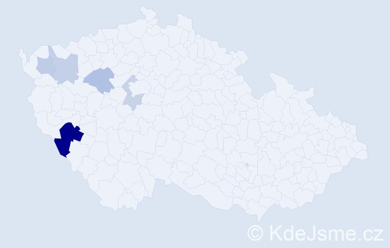 Příjmení: 'Idlbek', počet výskytů 11 v celé ČR