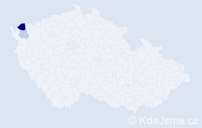 Příjmení: 'Hodáliková', počet výskytů 4 v celé ČR