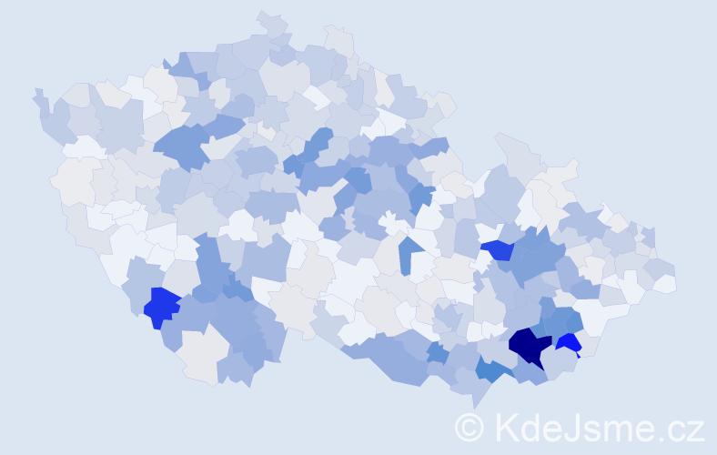 Příjmení: 'Hubáček', počet výskytů 1999 v celé ČR