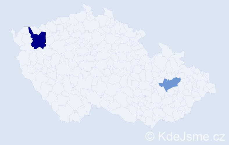 Příjmení: 'Knushi', počet výskytů 3 v celé ČR